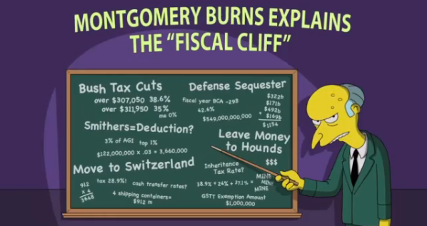 Monty Burns Explains Fiscal Cliff