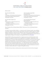 National Skills Coalition - letter on H.R. 803