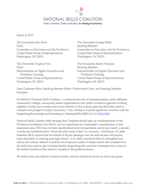 National Skills Coalition - letter on H.R. 803