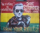 "The Original Strummer Mural in NYC: ""The Future Is Unwritten"""